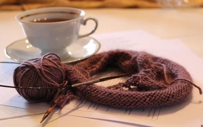 thé et tricot