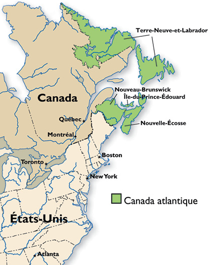Carte Canada Atlantique